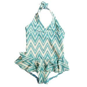 Hanna Andersson Toddler Halter Ruffle Swimsuit